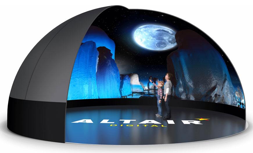 Altair inflatable planetarium