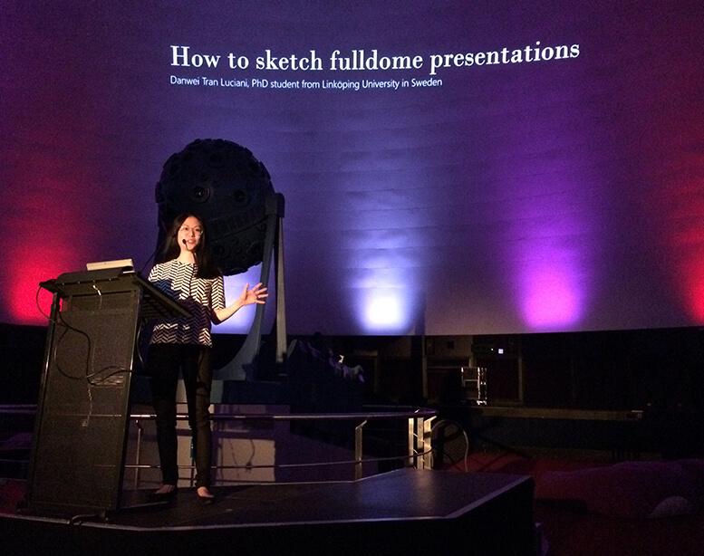 Danwei Tran Luciani on how to sketch in fulldome