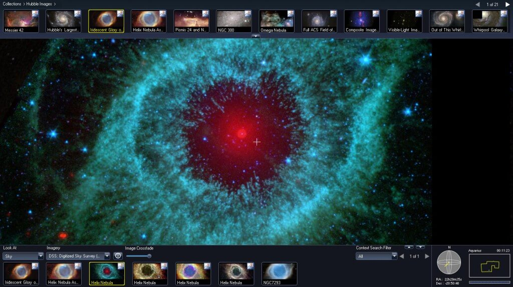 Hubble telescope images