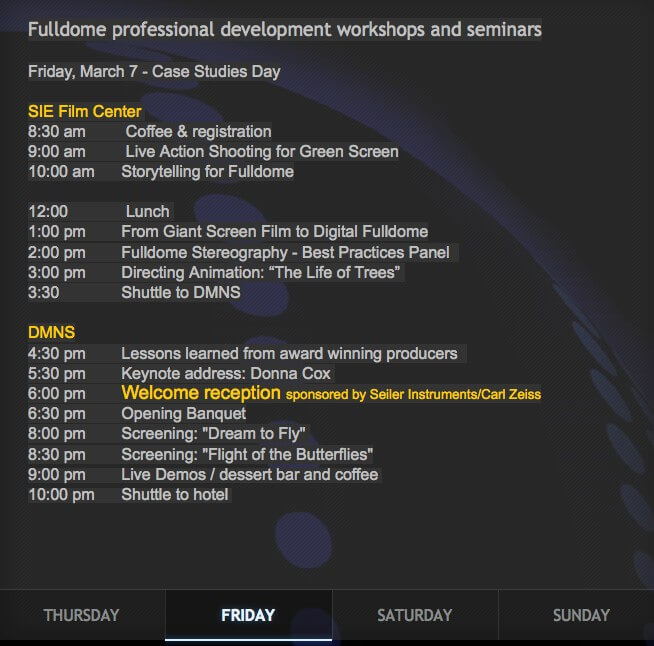 Case Study Sessions for Featured Fulldome Shows at the 2014 Imersa Summit