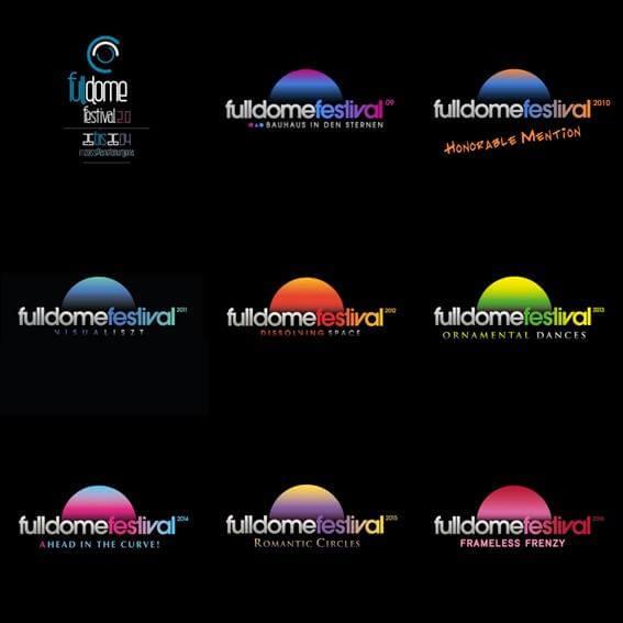 9 Years of Jena Fulldome Festival Logos