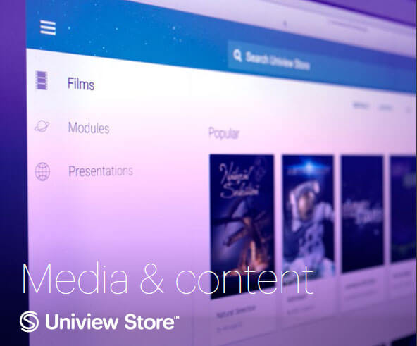 Uniview's media and content