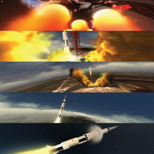 img news fulldome Apollo 11 Saturn V animation available for live presentation use.