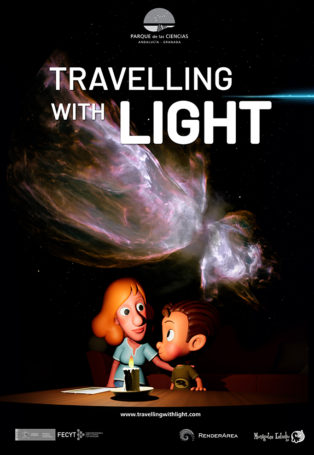 img poster fulldome show TRAVELLING WITH LIGHT