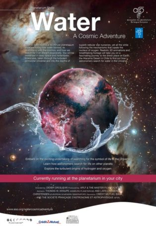 img poster fulldome show water-a-cosmic-adventure