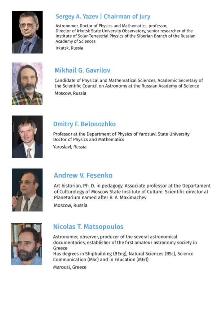 2019 Fulldome Festival Jury, Yaroslavl, Russia