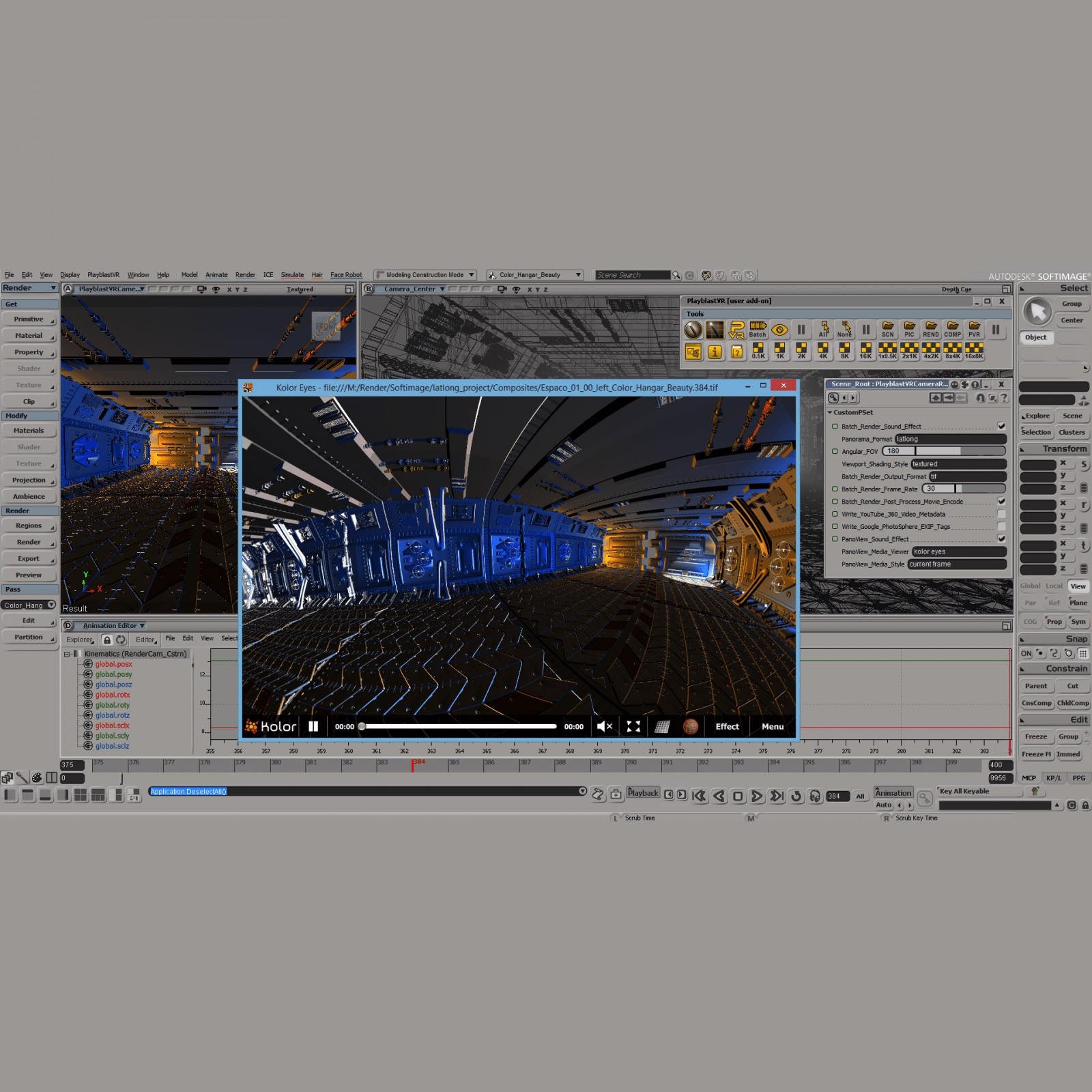 PlayblastVR for Softimage